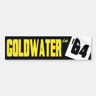 1964 Barry Goldwater Vintage Bumper Sticker