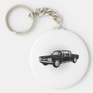 1964 Chevrolet Corvair Basic Round Button Key Ring