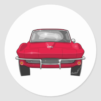 1964 Corvette Stingray Front Classic Round Sticker