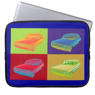 1964 Ford Galaxy Station Wagon Pop Art Computer Sleeves