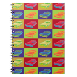 1964 Ford Galaxy Station Wagon Pop Art Spiral Notebook