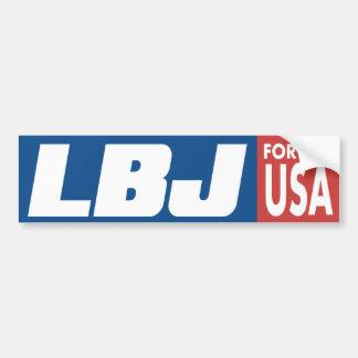 1964 LBJ Lyndon Johnson Vintage Bumper Sticker