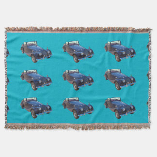 1964 Morgan Plus 4 Convertible Sports Car Throw Blanket