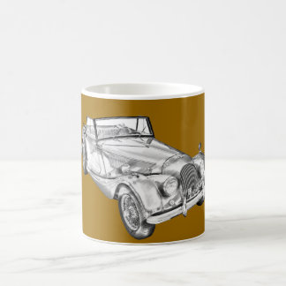 1964 Morgan Plus 4 Sports Car Illustration Coffee Mug