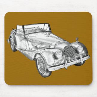 1964 Morgan Plus 4 Sports Car Illustration Mouse Pad