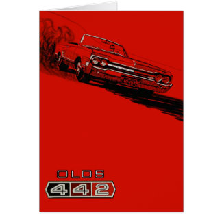 1964 Oldsmobile 442 poster reproduction Note Card
