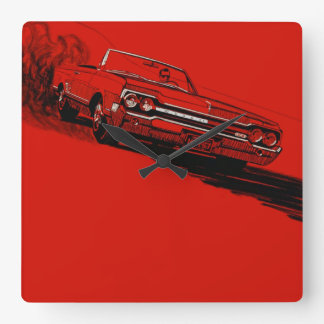 1964 Oldsmobile 442 vintage poster reproduction Square Wall Clock