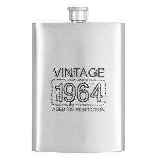 1964 Stainless steel flask | Vintage Birthday gift