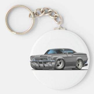 1965-66 Impala Grey Car Basic Round Button Key Ring
