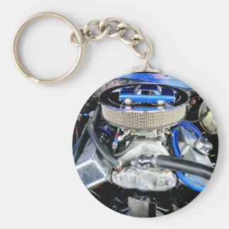 1965 Chevy Chevelle Blue Key Ring