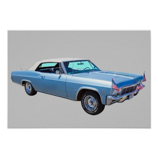 1965 Chevy Impala 327 Convertible Poster