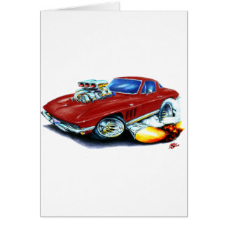 1965 Corvette Maroon Car Card