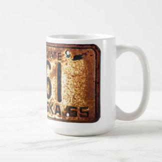 1965 Nebraska license plate mug. Basic White Mug