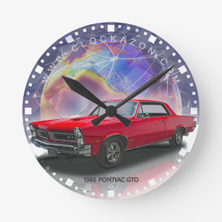 1965 Pontiac GTO (red) Decorative Wall Clock
