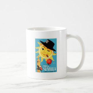 1965 Seville Spain April Fair Poster Coffee Mug