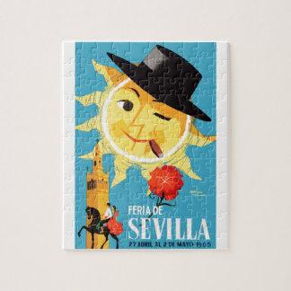 1965 Seville Spain April Fair Poster Jigsaw Puzzle