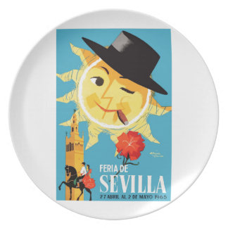 1965 Seville Spain April Fair Poster Plate