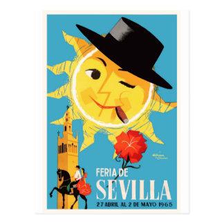 1965 Seville Spain April Fair Poster Postcard