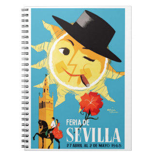 1965 Seville Spain April Fair Poster Spiral Notebook