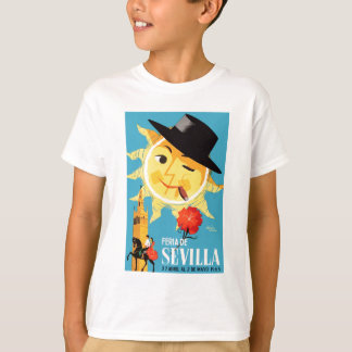 1965 Seville Spain April Fair Poster T-Shirt