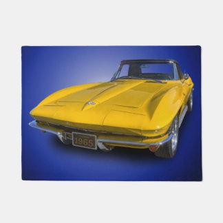 1965 VINTAGE SPORTS CAR DOORMAT
