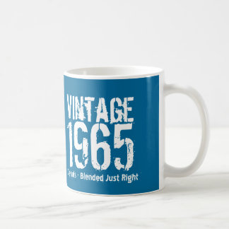 1965 Vintage Year or Any Birthday Blue White M65A Coffee Mug