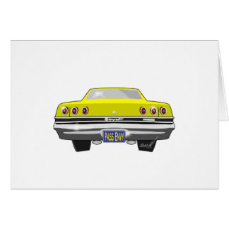 1965 Yellow Chevy Pass Envy Card