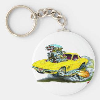 1966-67 Corvette Yellow Car Key Ring