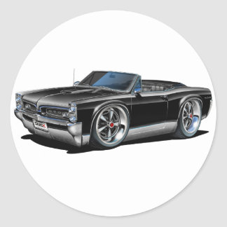 1966/67 GTO Black Convertible Round Sticker