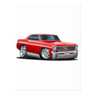 1966-67 Nova Red Car Postcard