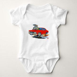 1966 Chevelle Red Car Baby Bodysuit