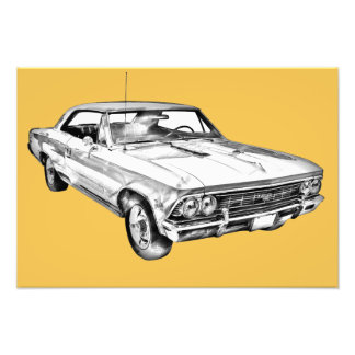 1966 Chevy Chevelle SS 396 Illustration Photograph