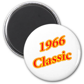 1966 Classic Red Refrigerator Magnet