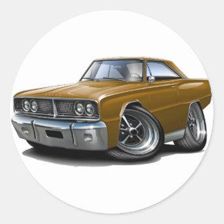 1966 Coronet Brown Car Classic Round Sticker