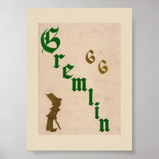 1966 Graydon Gremlin Yearbook Poster