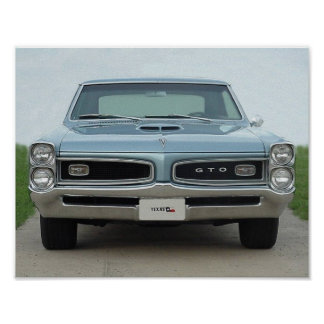 1966 GTO FRONT POSTER