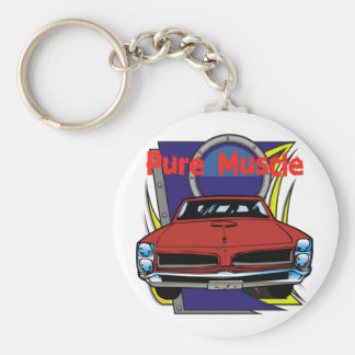 1966 GTO Muscle Car Basic Round Button Key Ring