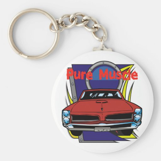1966 GTO Muscle Car Keychains