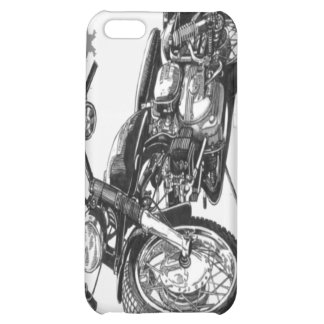 1966 Harley Davidson Sprint Vintage Motorcycle iPh Cover For iPhone 5C