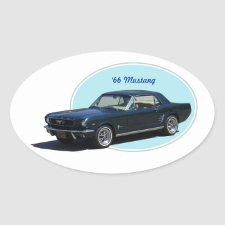 1966 Mustang sticker