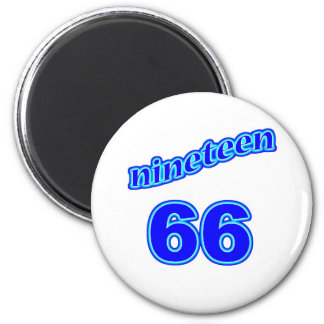 1966 Nineteen 66 Refrigerator Magnets