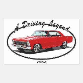 1966_nova_red rectangular sticker