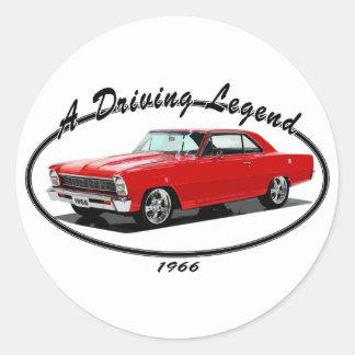 1966_nova_red round sticker