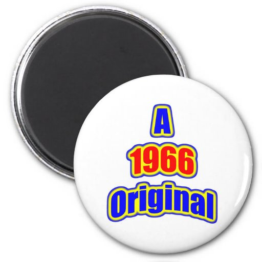 1966 Original Bl Red Refrigerator Magnets