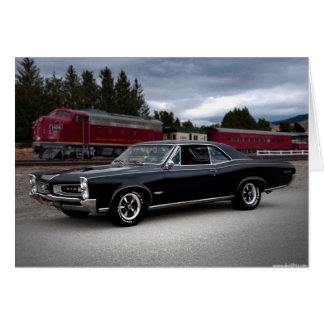 1966 Pontiac GTO Muscle Car Locomotive Train Card