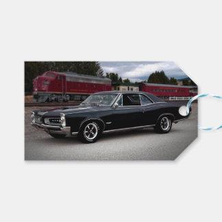 1966 Pontiac GTO Muscle Car Locomotive Train Gift Tags