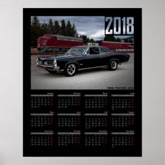 1966 Pontiac GTO Train Muscle Car 2018 Calendar Poster