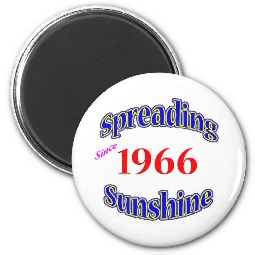 1966 Spreading Sunshine Refrigerator Magnet