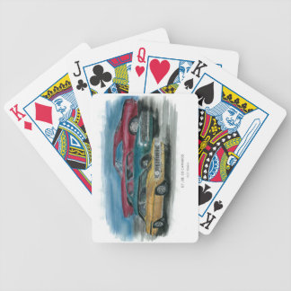 1967, 1968, 1969 classic camaros playing cards