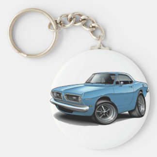1967-69 Barracuda Lt Blue Coupe Key Ring